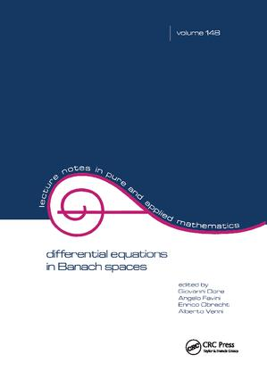 Differential Equations in Banach Spaces: 1st Edition (Hardback) book cover
