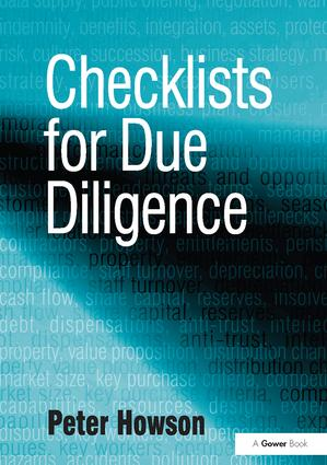 Checklists for Due Diligence: 1st Edition (Hardback) book cover