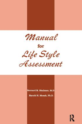 Manual For Life Style Assessment: 1st Edition (Hardback) book cover