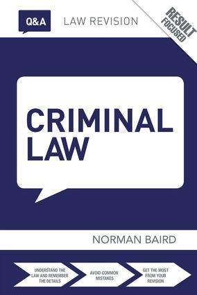 Q&A Criminal Law: 10th Edition (Hardback) book cover