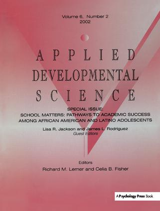 School Matters: Pathways To Academic Success Among African American and Latino Adolescents:a Special Issue of applied Developmental Science, 1st Edition (Paperback) book cover