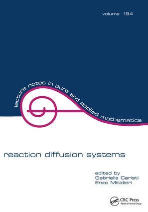 Reaction Diffusion Systems: 1st Edition (Hardback) book cover