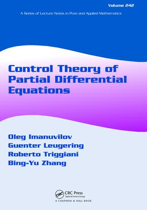 Control Theory of Partial Differential Equations: 1st Edition (Hardback) book cover