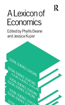 A Lexicon of Economics book cover