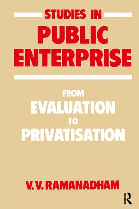Studies in Public Enterprise: From Evaluation to Privatisation book cover