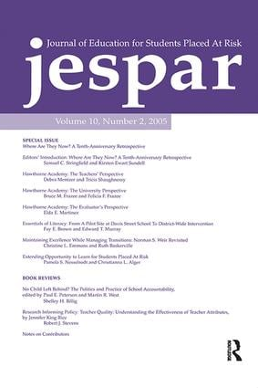 Where Are they Now?: A Tenth-anniversary Retrospective:a Special Issue of the journal of Education for Students Placed at Risk, 1st Edition (Hardback) book cover