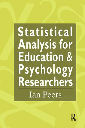 Statistical Analysis for Education and Psychology Researchers: Tools for researchers in education and psychology, 1st Edition (Hardback) book cover