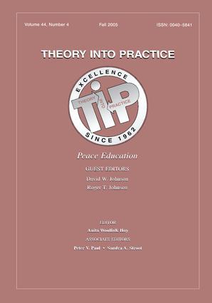 Peace Education Tip V44#4: 1st Edition (Hardback) book cover