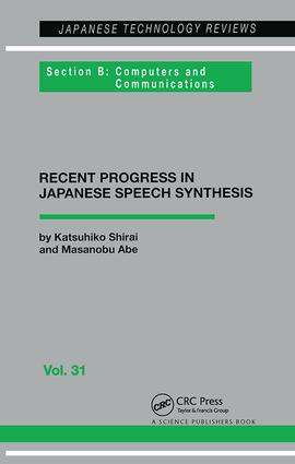 Japanese Speech Synthesis: 1st Edition (Paperback) book cover