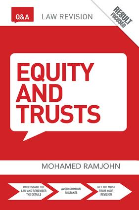 Q&A Equity & Trusts: 9th Edition (Hardback) book cover