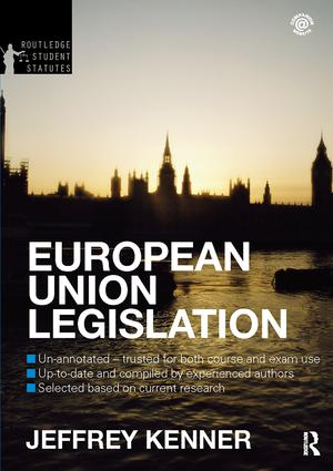 European Union Legislation 2012-2013: 5th Edition (Hardback) book cover
