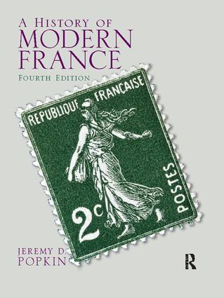 A History of Modern France: 4th Edition (Hardback) book cover
