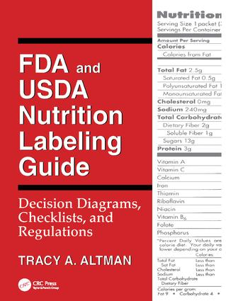 FDA and USDA Nutrition Labeling Guide: Decision Diagrams, Check, 1st Edition (Paperback) book cover