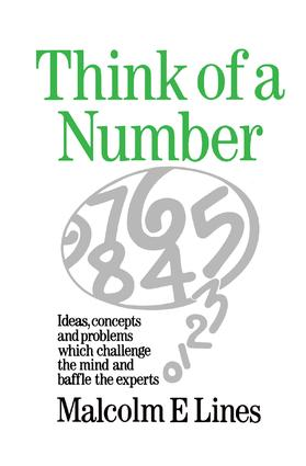 Think of a Number: 1st Edition (Paperback) book cover