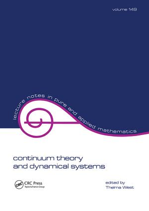 Continuum Theory & Dynamical Systems: 1st Edition (Paperback) book cover