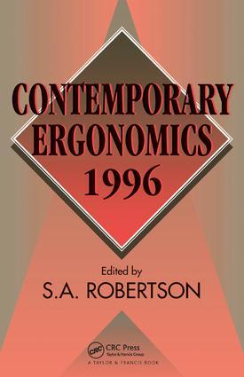 Contemporary Ergonomics 1996: 1st Edition (Hardback) book cover