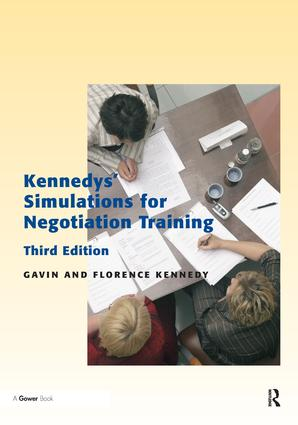 Kennedys' Simulations for Negotiation Training: 3rd Edition (Paperback) book cover
