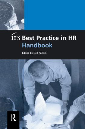irs Best Practice in HR Handbook: 1st Edition (Hardback) book cover
