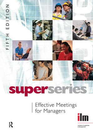 Effective Meetings for Managers: 5th Edition (Hardback) book cover