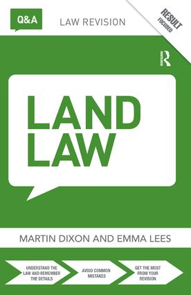 Q&A Land Law: 9th Edition (Hardback) book cover