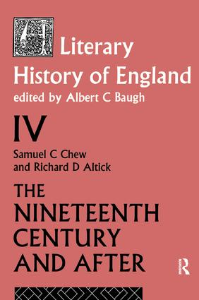 A Literary History of England Vol. 4 book cover
