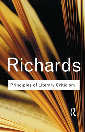 Principles of Literary Criticism: 1st Edition (Paperback) book cover