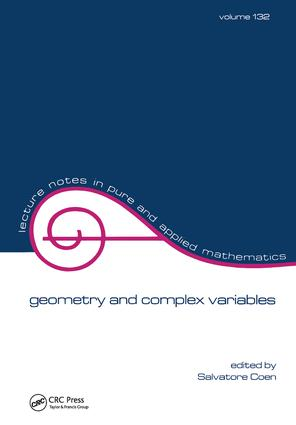 Geometry and Complex Variables: 1st Edition (Hardback) book cover