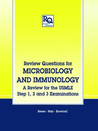 Review Questions for Microbiology and Immunology: A Review for the USMLE, Step 1, 2 and 3 Examinations, 1st Edition (Paperback) book cover