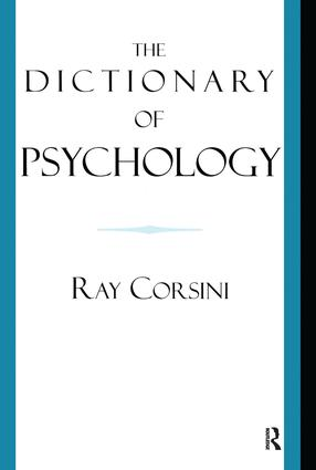 The Dictionary of Psychology: 1st Edition (Hardback) book cover