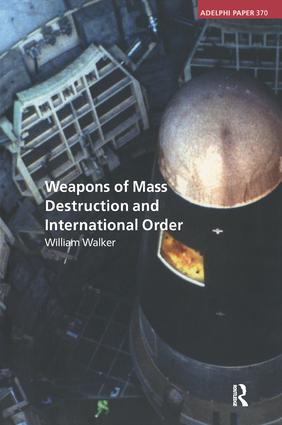 Weapons of Mass Destruction and International Order: 1st Edition (Paperback) book cover