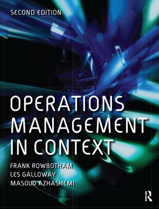 Operations Management in Context: 2nd Edition (Hardback) book cover