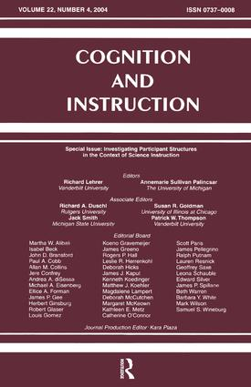 Investigating Participant Structures in the Context of Science Instruction: A Special Issue of Cognition and Instruction, 1st Edition (Hardback) book cover