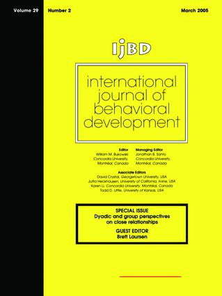 Dyadic And Group Perspectives On Close Relationships: Special Issue of International Journal of Behavioral Development (Paperback) book cover