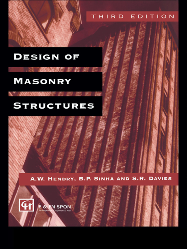 Design of Masonry Structures: 1st Edition (Hardback) book cover