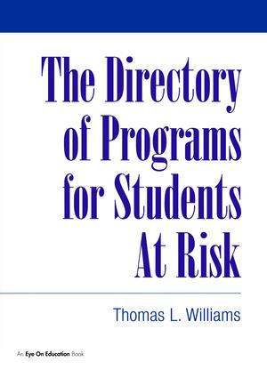 Directory of Programs for Students at Risk: 1st Edition (Hardback) book cover