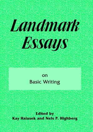 Landmark Essays on Basic Writing: Volume 18, 1st Edition (Paperback) book cover