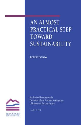 An Almost Practical Step Toward Sustainability: 1st Edition (Hardback) book cover