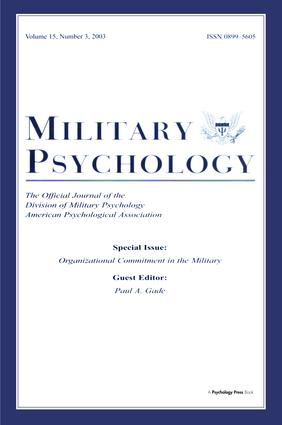 Organizational Commitment in the Military: A Special Issue of military Psychology, 1st Edition (Paperback) book cover