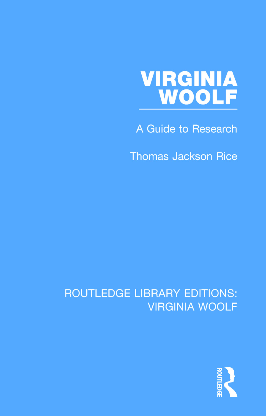 Virginia Woolf: A Guide to Research book cover