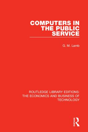 Computers in the Public Service: 1st Edition (Hardback) book cover