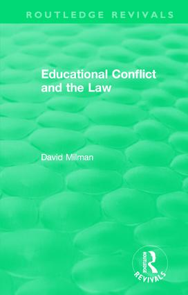 Educational Conflict and the Law (1986): 1st Edition (Hardback) book cover