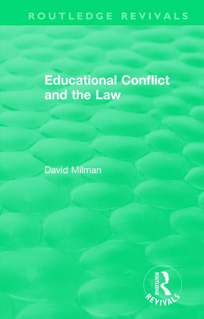 Educational Conflict and the Law (1986): 1st Edition (Paperback) book cover
