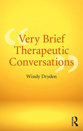 Very Brief Therapeutic Conversations: 1st Edition (Paperback) book cover