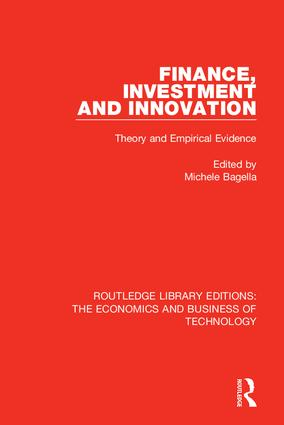 Finance, Investment and Innovation: Theory and Empirical Evidence, 1st Edition (Hardback) book cover