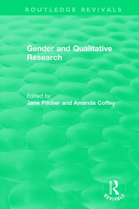 Gender and Qualitative Research (1996): 1st Edition (Hardback) book cover