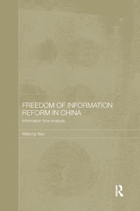 Freedom of Information Reform in China: Information Flow Analysis book cover