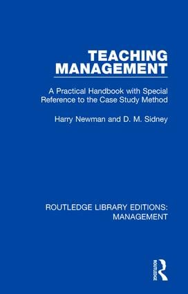 Teaching Management: A Practical Handbook with Special Reference to the Case Study Method book cover