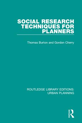 Social Research Techniques for Planners: 1st Edition (Hardback) book cover