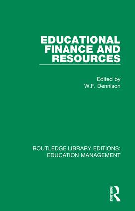 Educational Finance and Resources: 1st Edition (Hardback) book cover