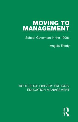 Moving to Management: School Governors in the 1990s book cover